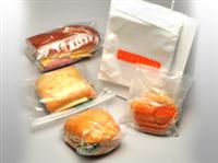 6 1/2 X 7 + 1 3/4 FB Saddle Pack Printed Hamburger Bag 0.5 mil 2,000/cs
