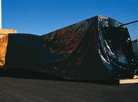 6ft X 100ft Black Low Density Polyethylene Tarp 4 mil /RL