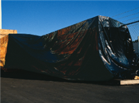 16ft X 100ft Black Low Density Polyethylene Tarp 4 mil /RL