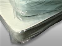 "46 X 84 Low Density Mattress Bag with Vent Holes -- 38"" Single 1.1 mil /RL"