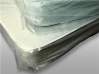 "52 X 81 Low Density Mattress Bag with Vent Holes -- 48"" Double Rollaway 1.1 mil /RL"