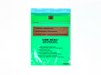 Specimen Bags Lab Seal®Tamper-Evidentwith Removable Biohazard Symbol - Green Tint