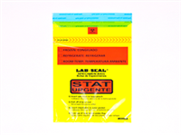 """Specimen Bags Lab Seal®Tamper-Evident with Removable Biohazard Symbol - Yellow Tint Printed """"STAT"""""""