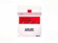 Lab-Loc® Specimen Bags with Removable Biohazard Symbol 4 X 6 1.75 mil 1,000/cs