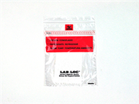 Lab-Loc® Specimen Bags with Removable Biohazard Symbol and Absorbent Pad 6 X 9 1.75 mil 1,000/cs
