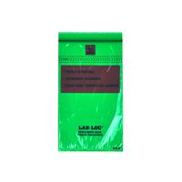 Lab-Loc® Specimen Bags with Removable Biohazard Symbol - Green Tint 6 X 9 1.75 mil 1,000/cs