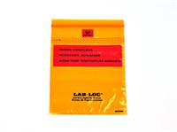 Lab-Loc® Specimen Bags with Removable Biohazard Symbol - Orange Tint 6 X 9 1.75 mil 1,000/cs