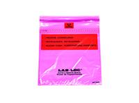Lab-Loc® Specimen Bags with Removable Biohazard Symbol - Purple Tint 6 X 9 1.75 mil 1,000/cs
