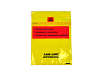 Lab-Loc® Specimen Bags with Removable Biohazard Symbol - Yellow Tint 6 X 9 1.75 mil 1,000/cs