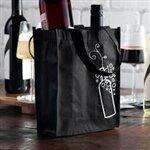 Non-Woven Polypropylene Bag -- Two Bottle Wine Bag  7 X 3 3/4 X 9 1/4 + 3 3/4 BG600/cs