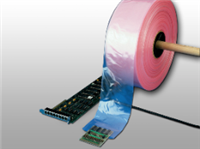 """15 X 1075ft 15"""" Pink Anti-Static Poly Tubing 4 mil /RL"""