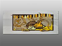 6 X 4 X 14 High Density #8 Hot Food Bag with Print 1.25 mil 1,000/cs