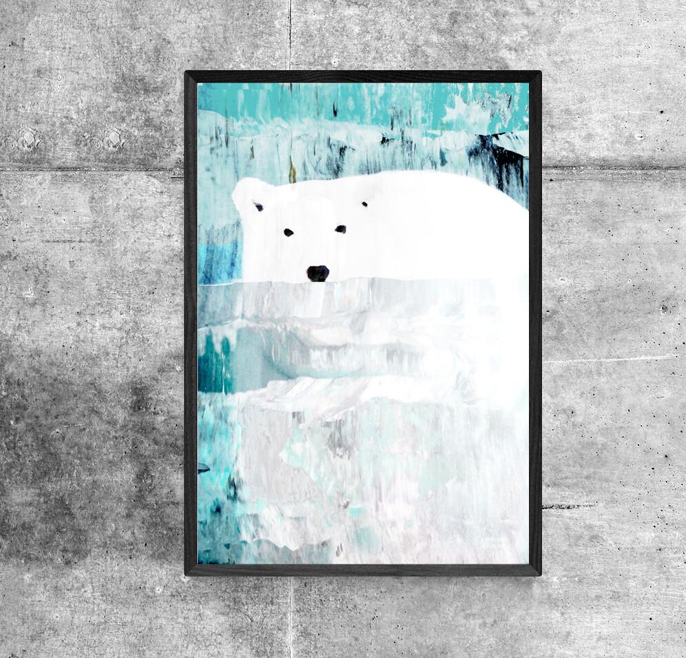 """""""Uiva jääkarhu"""" Juliste 21x30cm"""