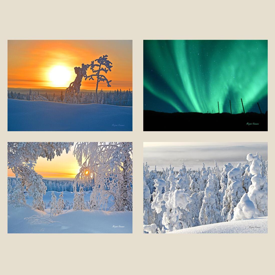 Korttisarja 4kpl A6 luontokuvakortteja