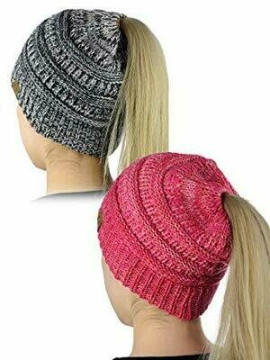 Ponytail Soft Stretch Winter Beanie