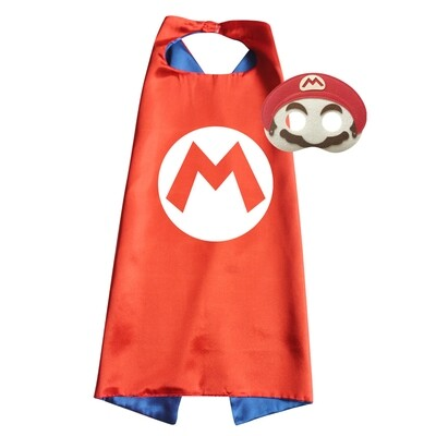 Super Mario Brothers Cape and Mask Set