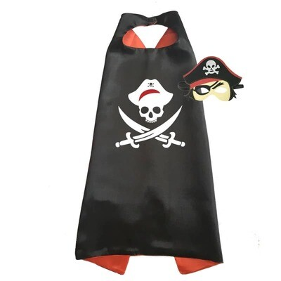 Captain Jack the Pirate Cape and Mask Set