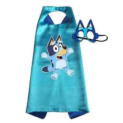 Bluey Dress Up Cape and Mask Dress Up Set