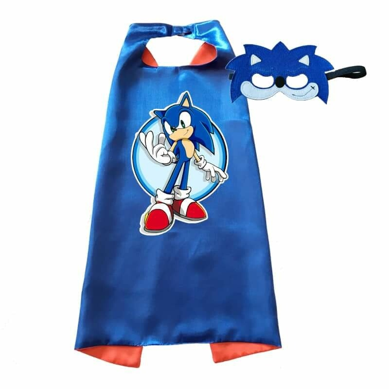 Sonic the Hedgehog Cape and Mask Dress Up Set