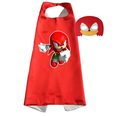 Knuckles the Echidna Dress Up Cape and Mask Set