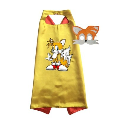 Tails Cape and Mask Cape and Mask Dress Up Set