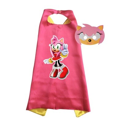Amy Rose Cape and Mask Dress Up Costume
