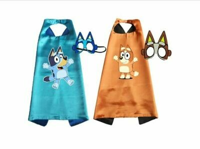 Pack of 2 Bluey and Bingo Cape and Mask Set