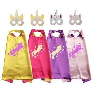 Unicorn Cape and Mask Set