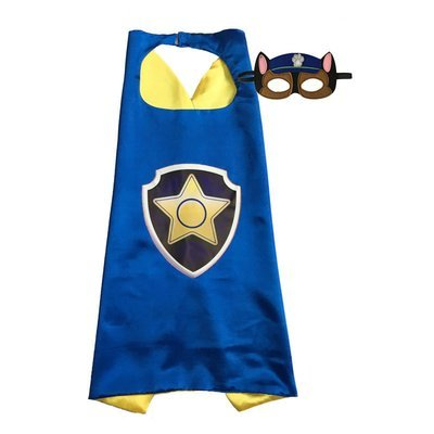 Paw Patrol Chase Cape and Mask Set