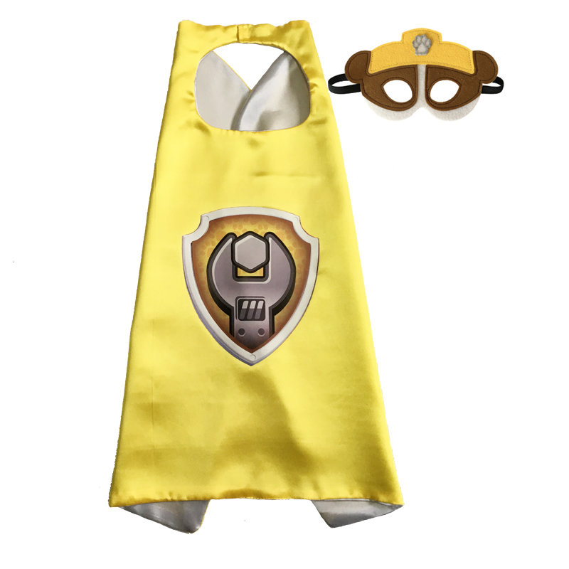 Paw Patrol Rubble Cape and Mask Set