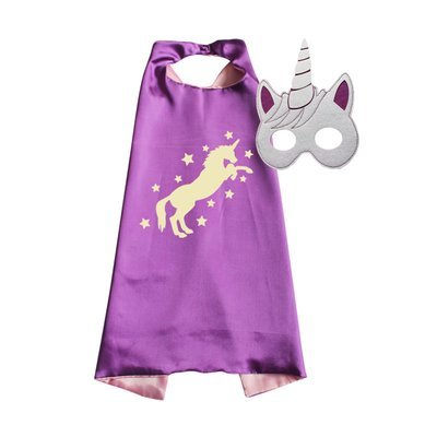 Unicorn Cape and Mask Set Purple