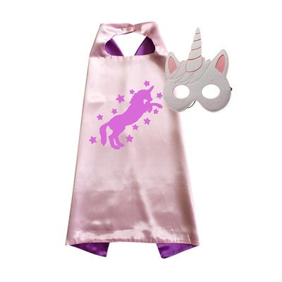 Unicorn Cape and Mask Set  Pink