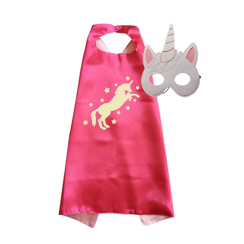 Unicorn Cape and Mask Set Fuschia