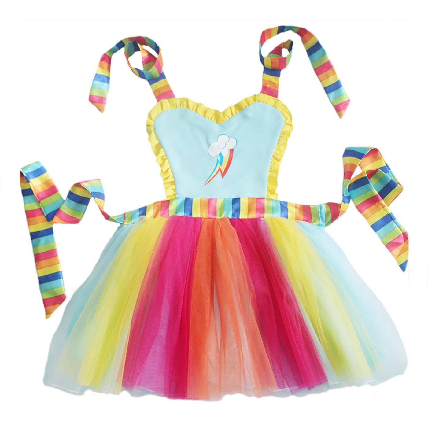 Rainbow Dash Tutu Apron Dress