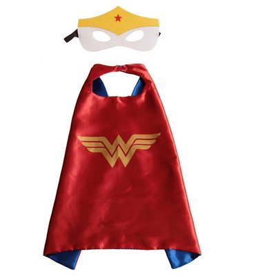 Wonderwoman Dress Up Cape and Mask Set