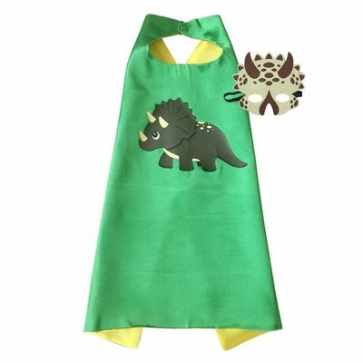 Dinosaur Boy Triceratops Cape and Mask Set