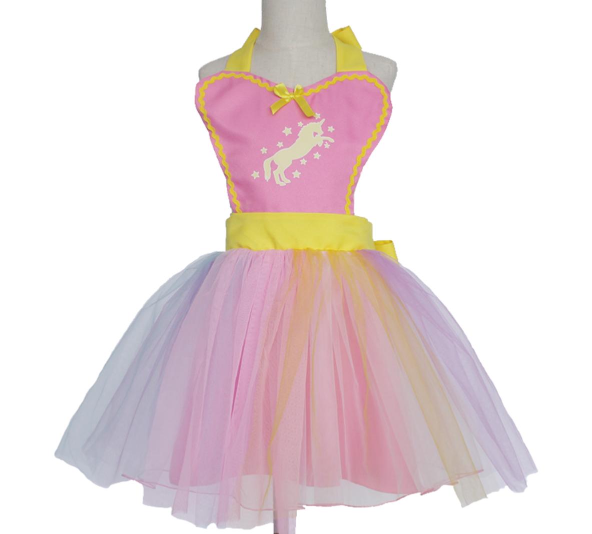 Unicorn Tutu Apron Dress - Pink