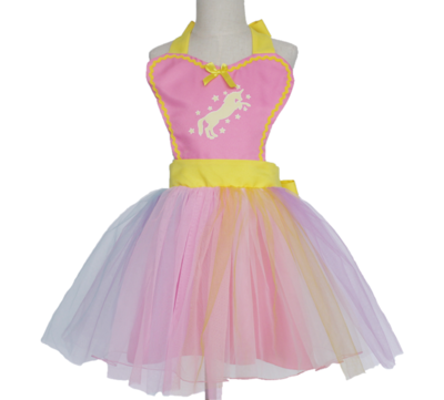 Unicorn Tutu Apron Dress - Pink