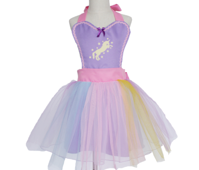 Unicorn Tutu Dress Apron - Purple