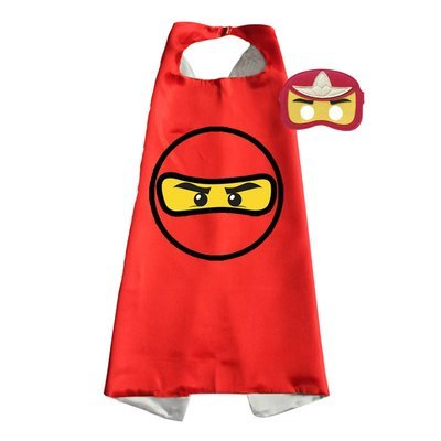 Ninjago Red Cape and Mask Set - Kai