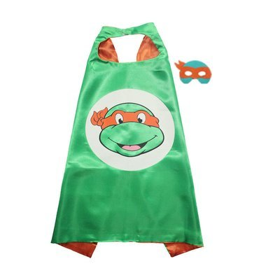 Traindrops Teenage Mutant Ninja Turtle Michaelangelo Cape and Mask Set