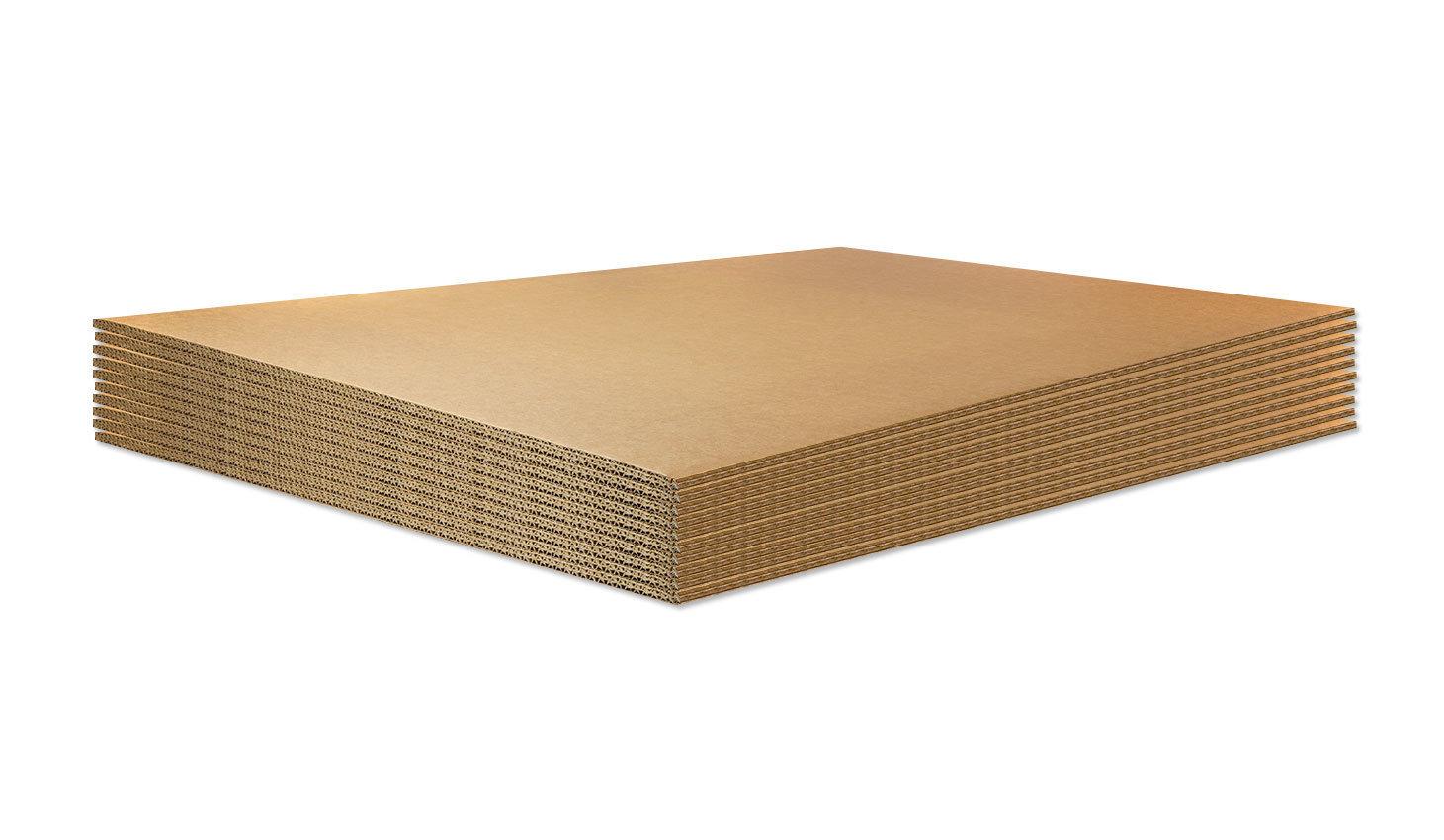 BASE IN CARTONE per ECOPALLET 80x120cm X 14mm • 10 pezzi