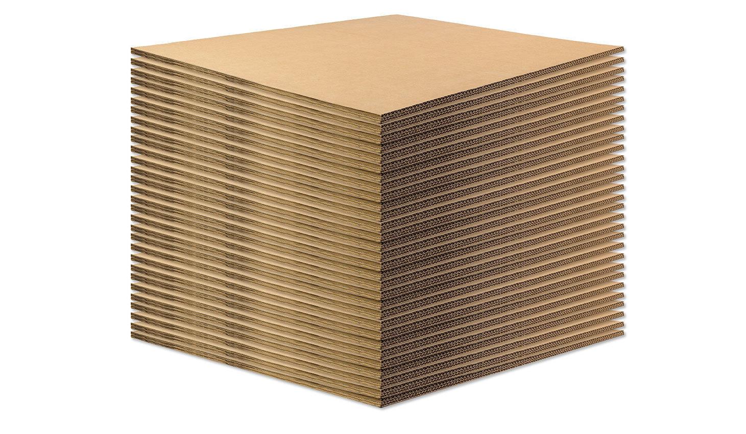 BASE IN CARTONE per ECOPALLET  80x60cm x 14mm • 50 pezzi