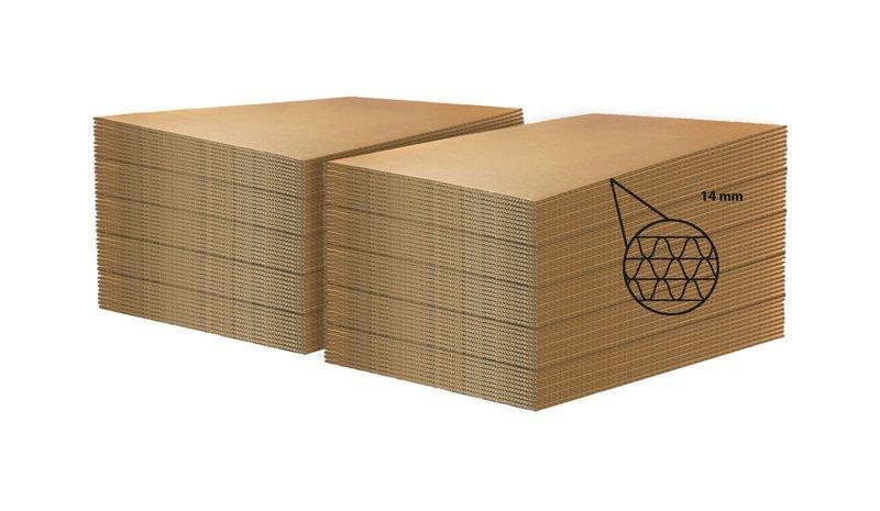 LASTRA DI CARTONE  per ECOPALLET  80x120cm X 14mm • 160 pezzi