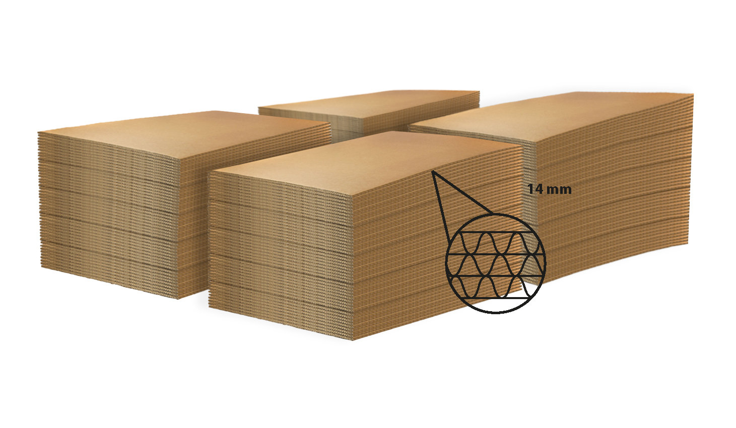 LASTRA DI CARTONE  per ECOPALLET  80x60cm X 14mm • 320 pezzi