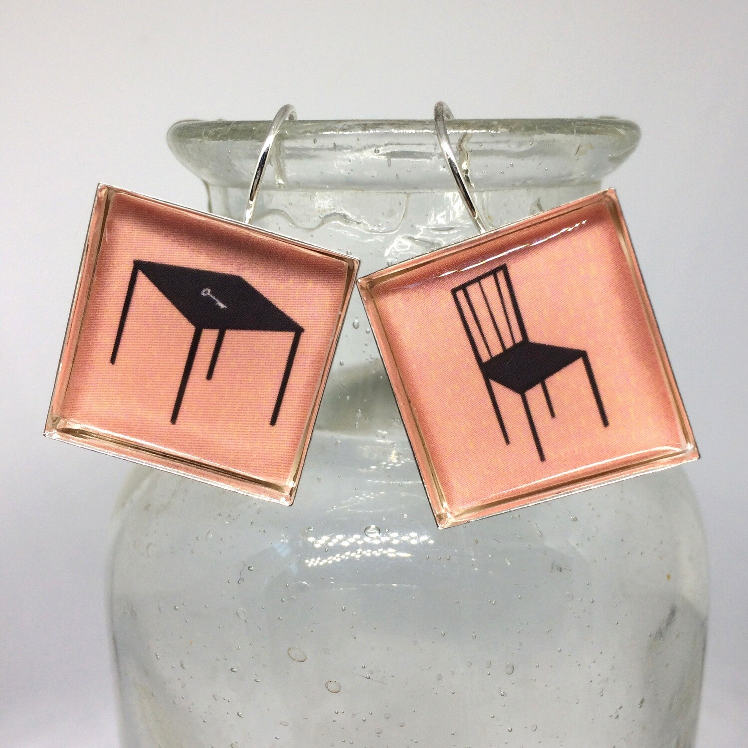 CHAIR AND TABLE EARRINGS