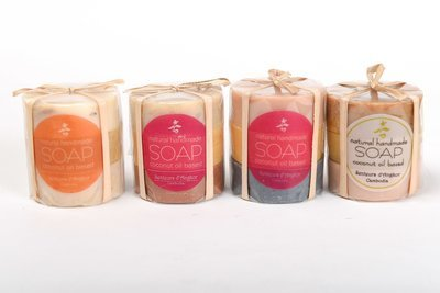 All Natural Round Soap - 3 Piece Pack