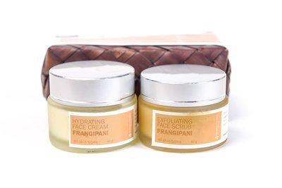 Set Facial Scrub and Cream 40g, Frangipani