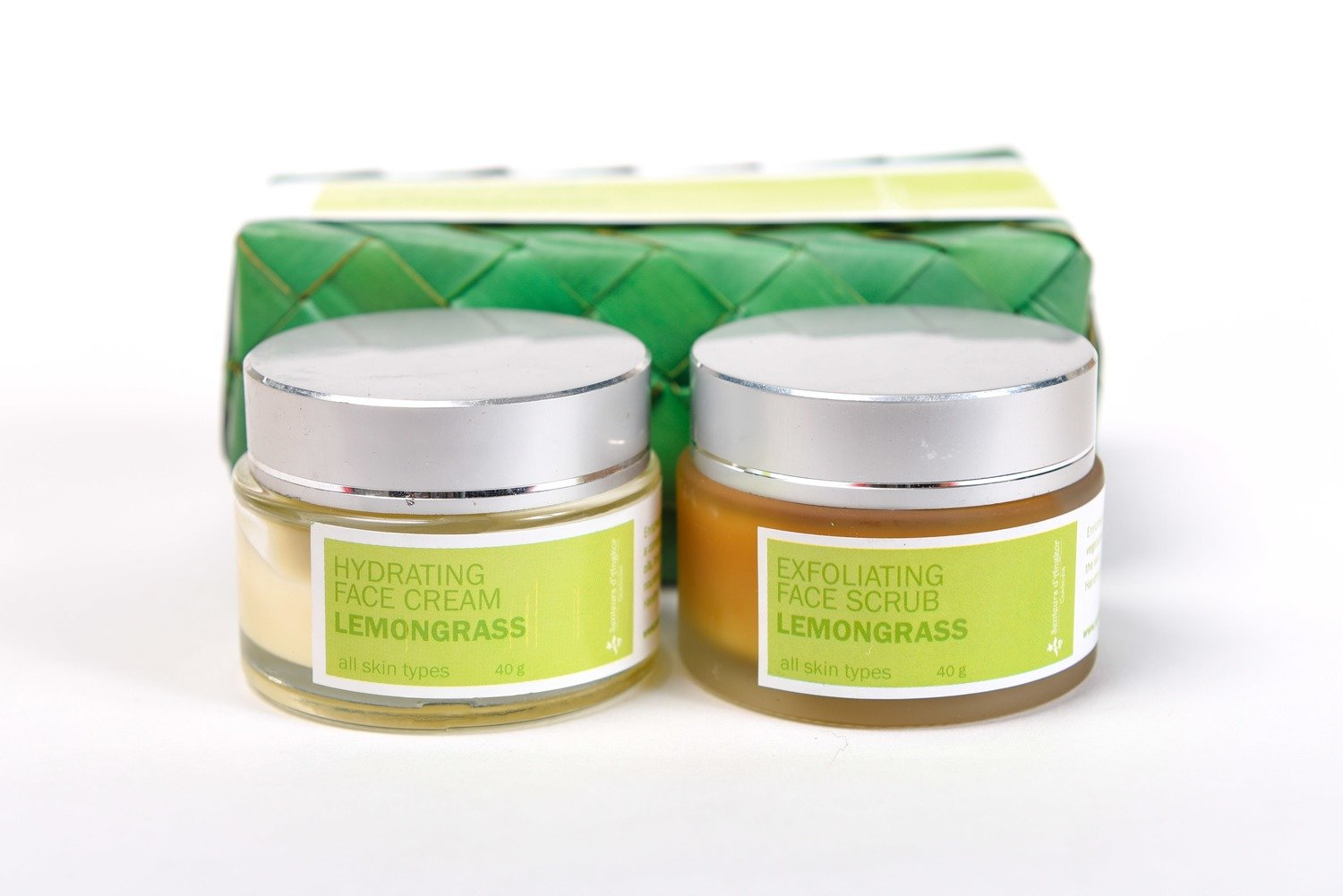 Set Facial Scrub and Cream 40g, Lemongrass