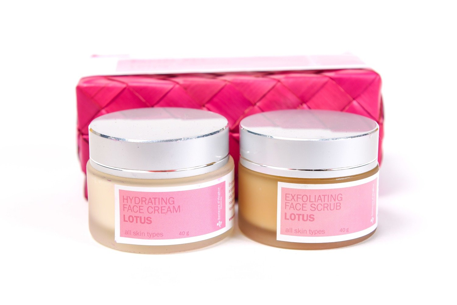 Set Facial Scrub and Cream 40g, Lotus